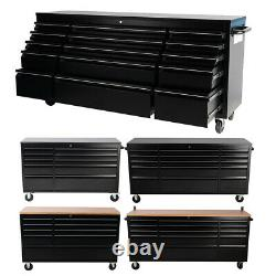 10/15Drawer Mobile Work Bench Tool Box Chest Cabinet Garage Rolling Cart Trolley