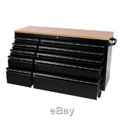 10/15Drawer Work Bench Tool Box Chest Cabinet Rolling Lockable Workshop Tool Box