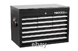 12 Drawer Tool Chest Black Metal Garage Tools Storage Box Cabinet Unit Hilka Pro
