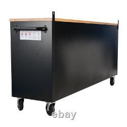 15 Drawers Tool Chest Roller Cabinet Garage Workshop Storage Tool Box On Wheels