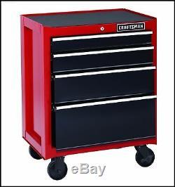 26 Rolling Cabinet 4-Drawer Heavy-Duty Tool Chest Garage Work Craftsman RED