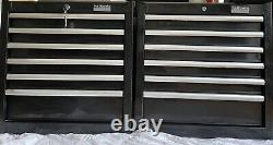 2 X Halfords Industrial Roller Cabinets. Floor Standing. 6 Drawers. Tool Chest