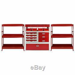 3 x Van Racks Metal Storage Shelving & Van Racking Drawers Steel Red Tool System
