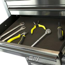 41 Professional 14 Drawer Stainless Steel Tool Chest & Roller Cabinet