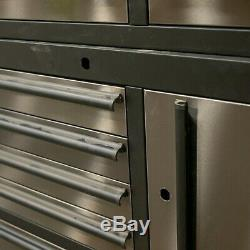 41 Professional 14 Drawer Stainless Steel Tool Chest & Roller Cabinet 6167-6185