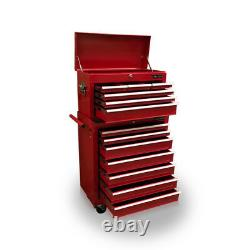 423 Tool Box Roller Cabinet Steel Chest 13 Drawers Gloss Red Us Pro Tools