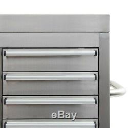 42 Stainless Steel 16 Drawer Tool Chest and Roller Cabinet