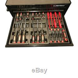 443 Us Pro Tools Tool Chest Box 7 Drawer Roller Cabinet With 189 Pc Tools