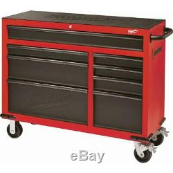 46 in. 8-Drawer Roller Cabinet Tool Chest Red/Black Textured Mechanic Shop Use