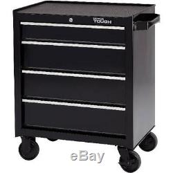 4-Drawer Rolling Tool Cabinet with Ball-Bearing Slides, 26W