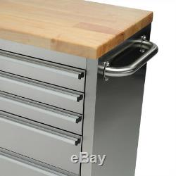 55 Stainless Steel 10 Drawer Work Bench Tool Box Chest Cabinet