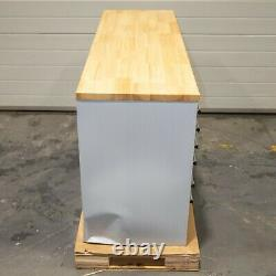 55 Stainless Steel 10 Drawer Work Bench Tool Box Chest Cabinet 3689-3693