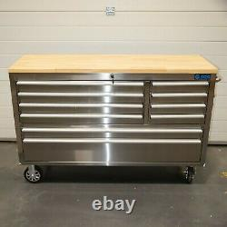 55 Stainless Steel 10 Drawer Work Bench Tool Box Chest Cabinet 5171-5176