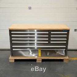 55 Stainless Steel 10 Drawer Work Bench Tool Box Chest Cabinet 5182-5189