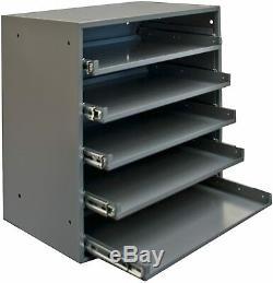 5 Sliding Drawers Tool Box Storage Organizer Steel Tabletop Rack Garage Cabinet