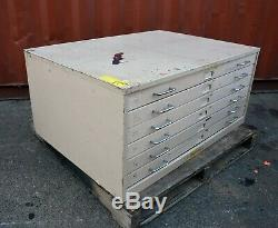 6 drawer Funky retro Plan file tool cabinet Adelaide paint 900x1200x550mm BEIGE