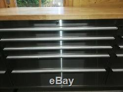 72 Stainless Steel 15 Drawer Work Bench