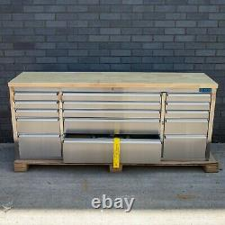 72 Stainless Steel 15 Drawer Work Bench Tool Box Chest Cabinet 0719-0727