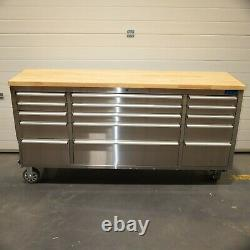 72 Stainless Steel 15 Drawer Work Bench Tool Box Chest Cabinet 2457-2465