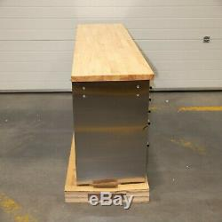 72 Stainless Steel 15 Drawer Work Bench Tool Box Chest Cabinet 5065-5070