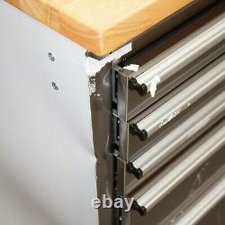 72 Stainless Steel 15 Drawer Work Bench Tool Box Chest Cabinet 9807-9816