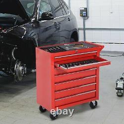 7 Drawer Tool Storage Mechanics Trolley Garage Workshop Cabinet Cart Chest Box
