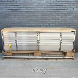 96 Stainless Steel 24 Drawer Work Bench Tool Chest Cabinet 0702-0713