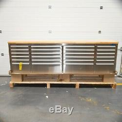 96 Stainless Steel 24 Drawer Work Bench Tool Chest Cabinet 4947-4953