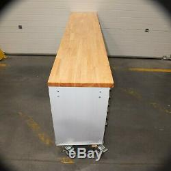 96 Stainless Steel 24 Drawer Work Bench Tool Chest Cabinet 5276-5282