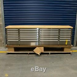 96 Stainless Steel 24 Drawer Work Bench Tool Chest Cabinet 5835-5840