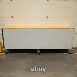 96 Stainless Steel 24 Drawer Work Bench Tool Chest Cabinet 9313-9319