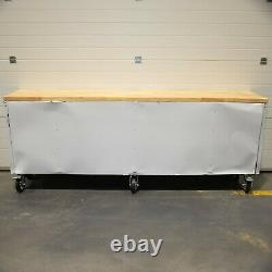 96 Stainless Steel 24 Drawer Work Bench Tool Chest Cabinet 9450-3459
