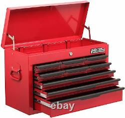 9 Drawer Heavy Duty Tool Chest Red Storage Top Box Cabinet Hilka Garage Lockable