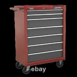 AP22507BB Sealey Rollcab 7 Drawer with Ball Bearing Runners Red/Grey
