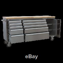 AP7210SS Sealey Mobile Stainless Steel Tool Cabinet 10 Drawer Cupboard Chests