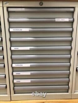 Allemand Frere Metal Tool Drawer Cabinets X4 Units. Swiss Made