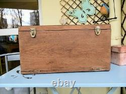 Antique Oak Collectors Cabinet, Watchmakers Drawers, Vintage Tool Box / Chest