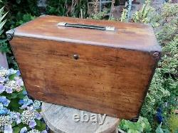 Antique Vintage Engineers Tool Cabinet Chest Bank Of 8 Drawer with Key