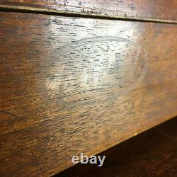 Antique Vintage Moore & Wright Engineers 8 Drawer Tool Box Cabinet Chest