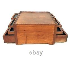 Antique Wooden Dentists Tool Cabinet / Box / Collectors Chest of Drawers c1920