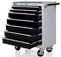 Autojack 7 Drawer Lockable Metal Tool Storage Chest Roller Cabinet Roll Cab