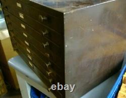 B&B Metal 8-Drawer Storage Watchmaker Cabinet Bench Repair Tool Organizer