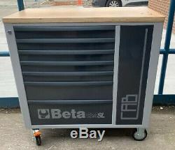 Beta 7 Drawer Mobile Roller Cabinet + Cupboard Grey C24SL-CAB 024002192