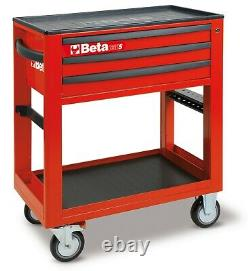 Beta C50S Service Workshop Roller Tool Trolley Cabinet with 3 Drawers Red