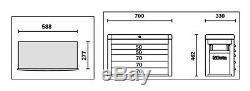 Beta Tools C23S O 5 Drawer Tool Top Box Cabinet Chest Orange Colour