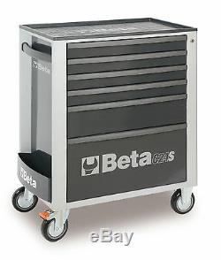 Beta Tools C24S 6 Drawer Roller Cabinet Tool Box Roll Cab Grey Rollcab