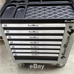 Brand New Seven Drawer Locking Garage Tool Cabinet With Side Door On Rrp £1250