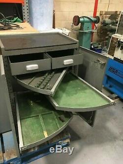 Bridgeport Milling Machine Tooling Cabinet Original With Swing Out Drawers