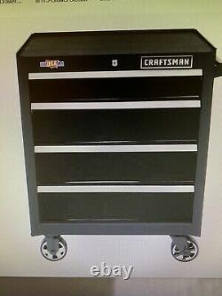 CRAFTSMAN 2000 Series 26-in 4-Drawer Tool Cabinet (Black) 721615314756