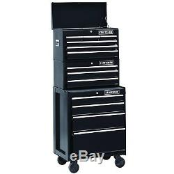 Craftsman 26 in 3-Drawer Heavy-Duty Ball Bearing Middle Chest Box Storage Black